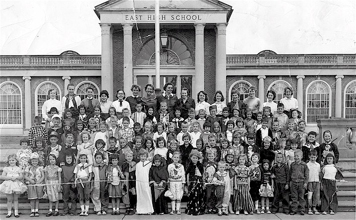 One session of Mrs. Trenor's 1956-57 kindergarten class at East