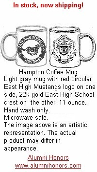 Advertisement: East logo coffee mug - www.alumnihonors.com